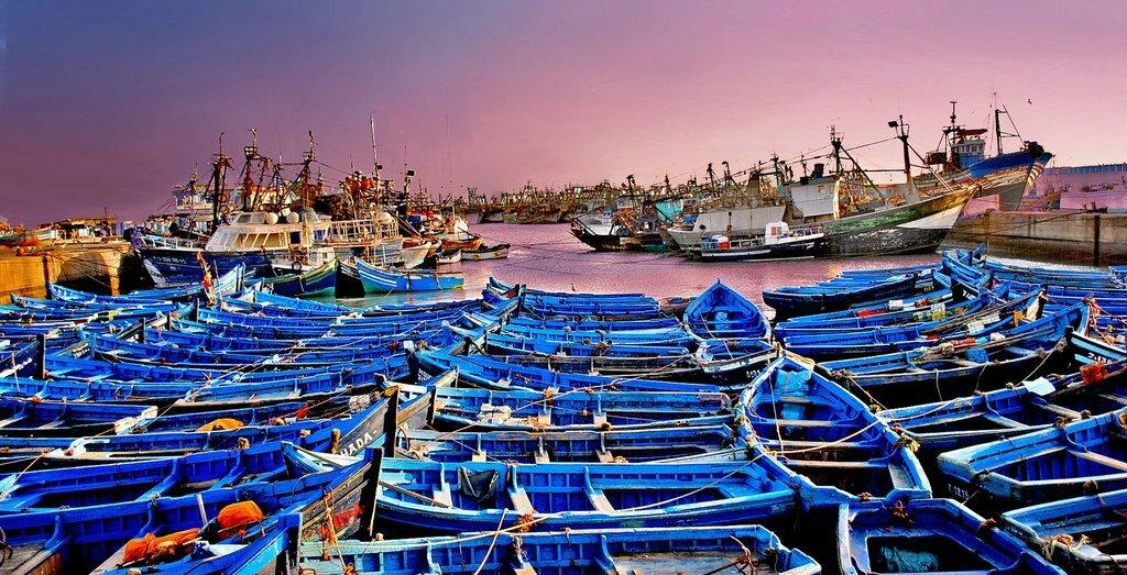 In port at Essaouira