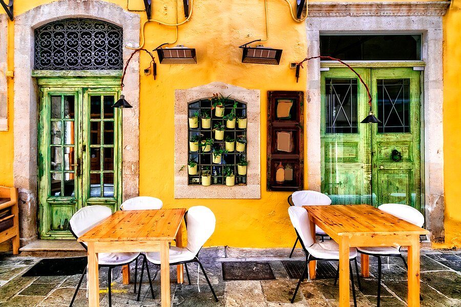 Restaurant in the medieval center of Rethymno