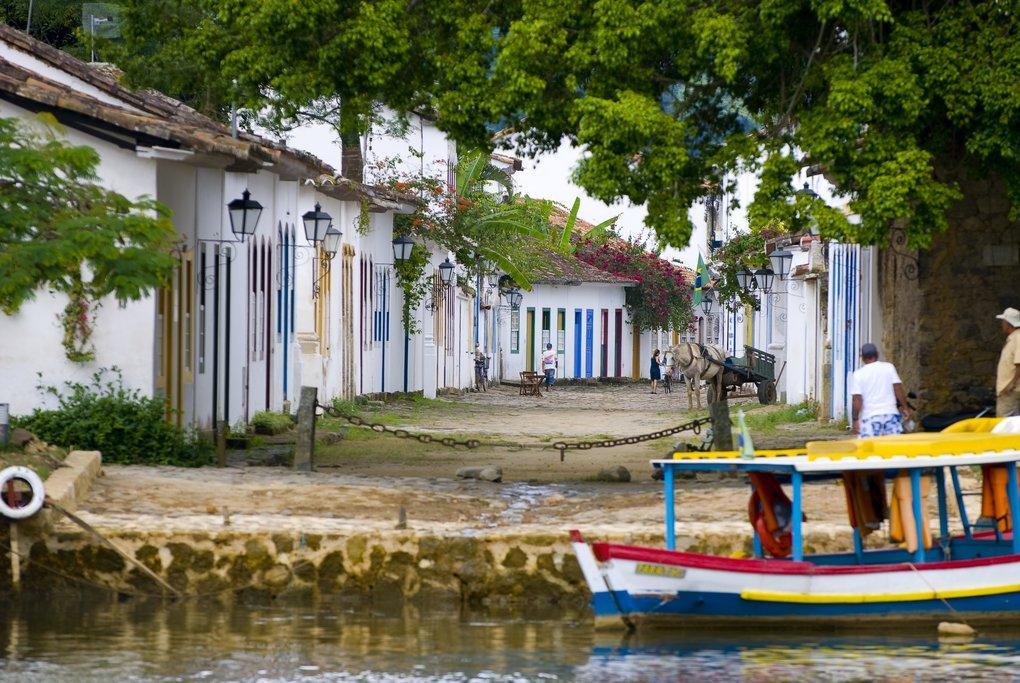 A quiet street in Paraty