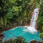 The Río Celeste waterfall