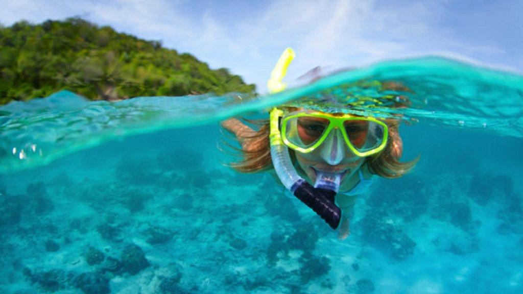 Snorkel above pristine coral reefs