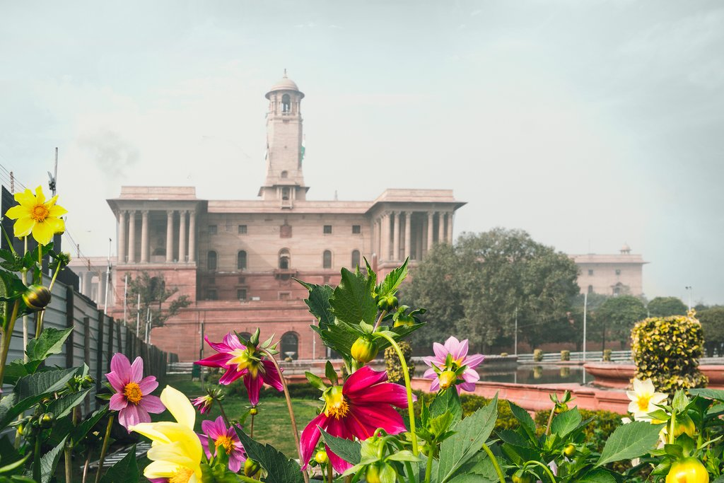 Go on a tour of Old and New Delhi and drive past the Presidential Palace