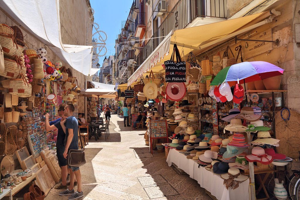 Touring Bari's historic old town