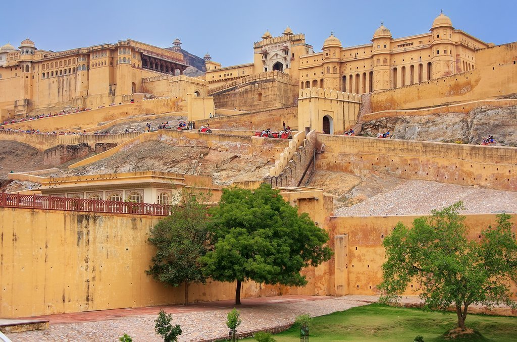The Amber Fort outside Jaipur
