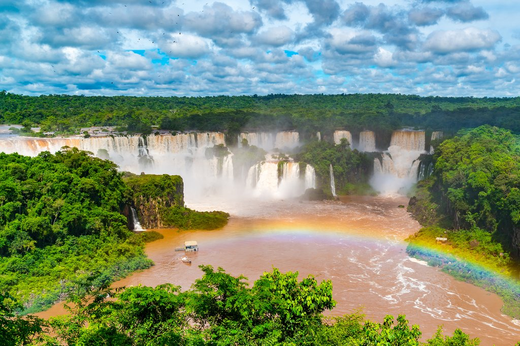 Bird's Eye View of Iguazu Falls