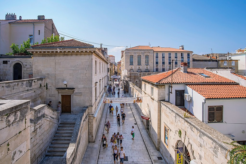 Local scene of Zadar's Old Town