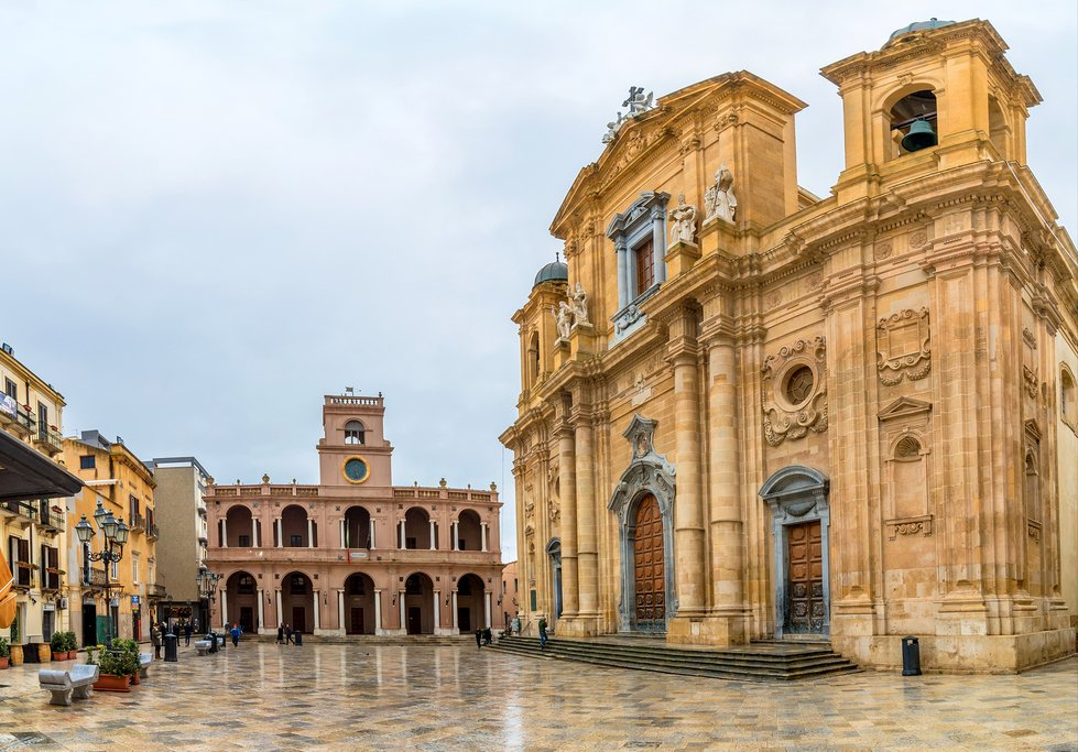 Italy - Sicily - Marsala - The Marsala Cathedral in the main square