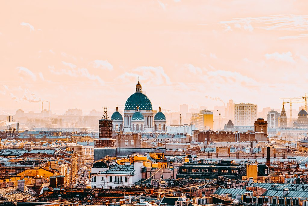 Panoramic view from the roof of St. Isaac's Cathedral
