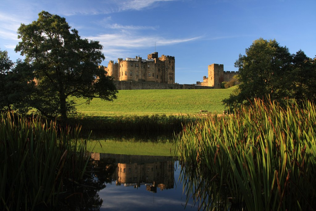 Alnwick Castle and the River Aln