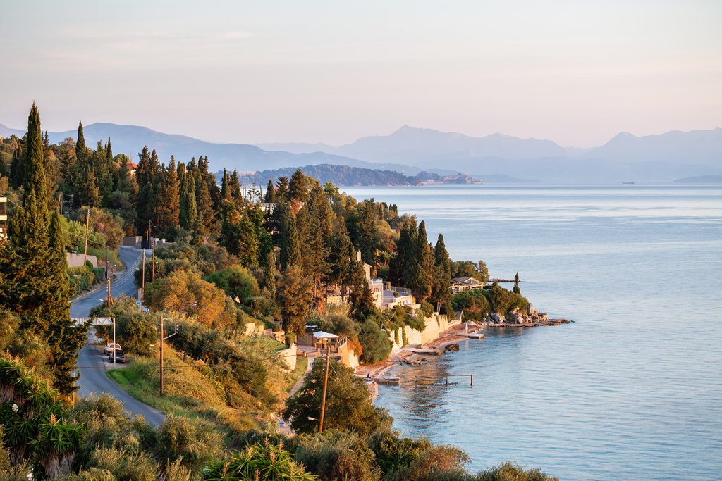 The bay at Paleokastritsa in Corfu