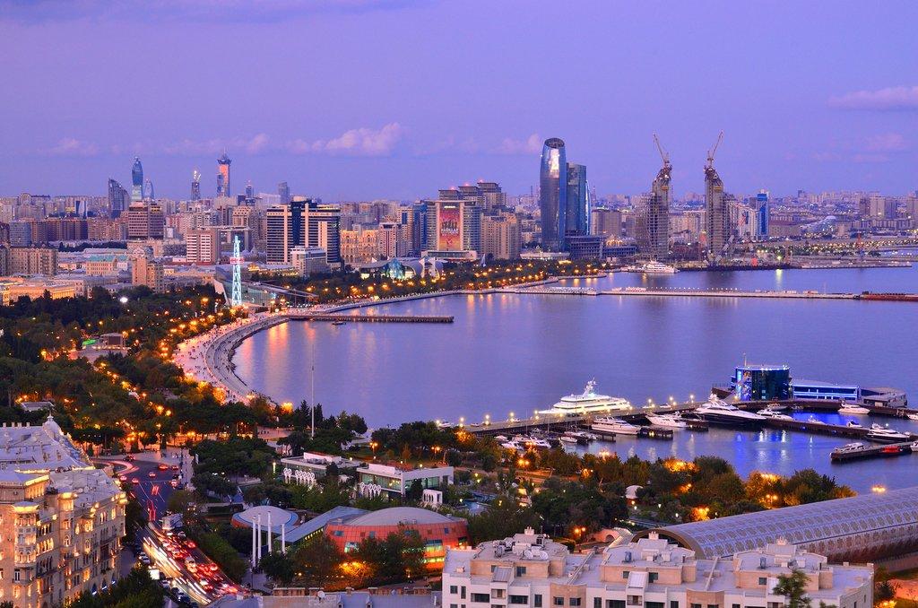 Baku Skyline at Night