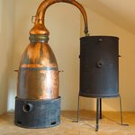 Old copper distiller (used for perfume production) in Grasse, France