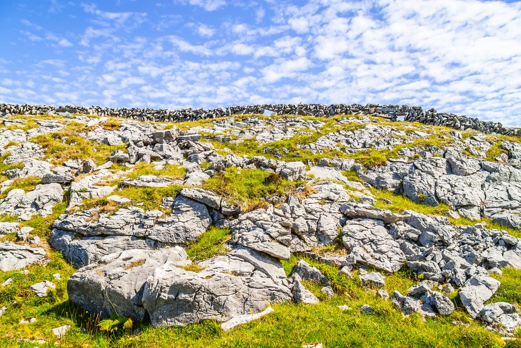 Rock formations along the Burren Way