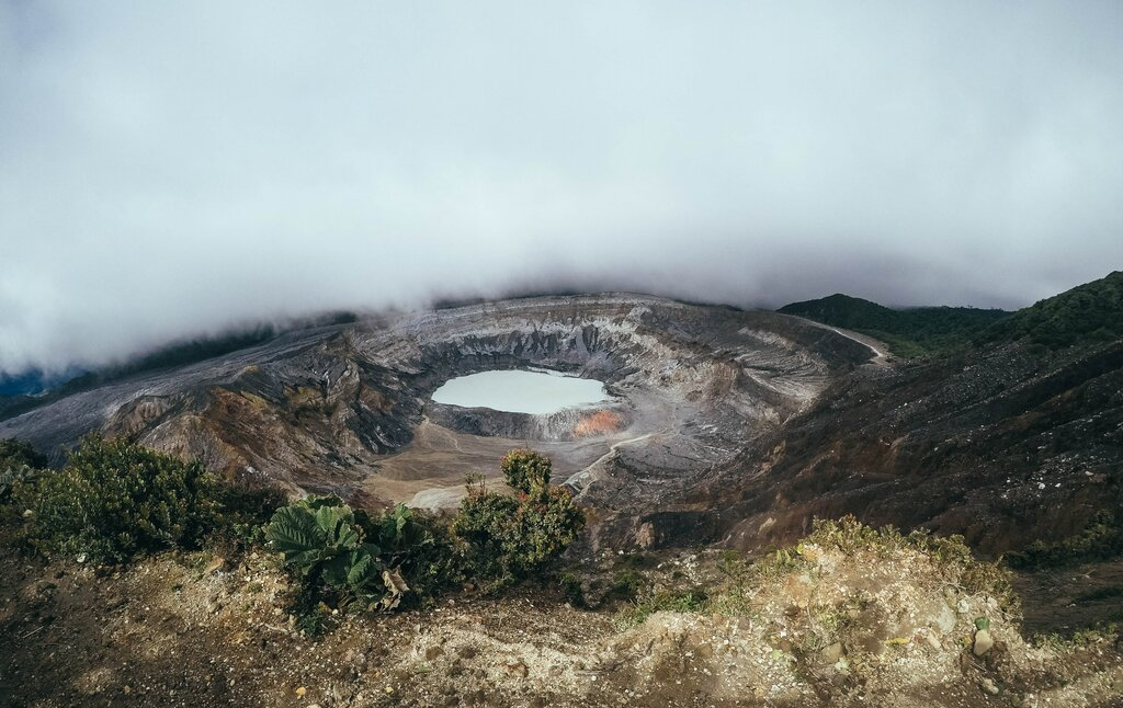 Aerial View of Poas Volcano
