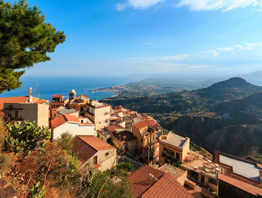 View of Taormina from Castelmola
