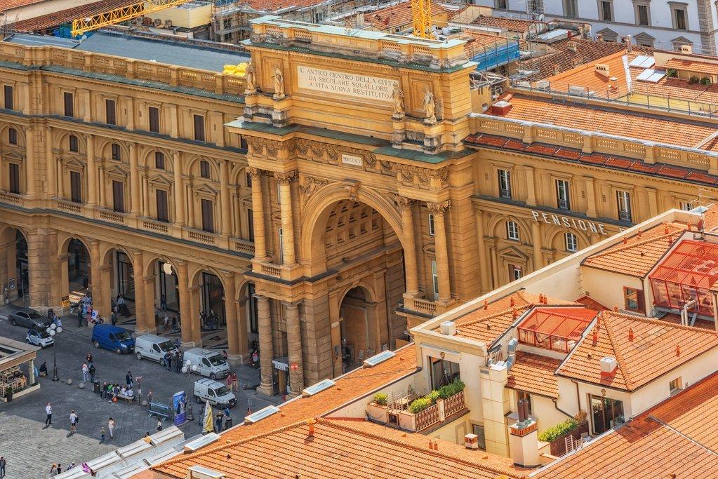 Aerial view of Piazza della Repubblica