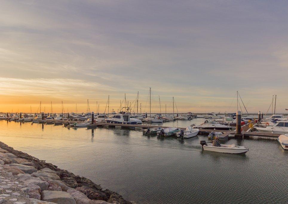 Sunrise on the Olhao Marina