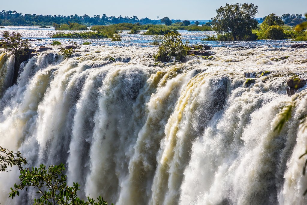 Victoria Falls right after rainy season, Zimbabwe