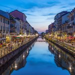 Naviglio Grande canal in the evening