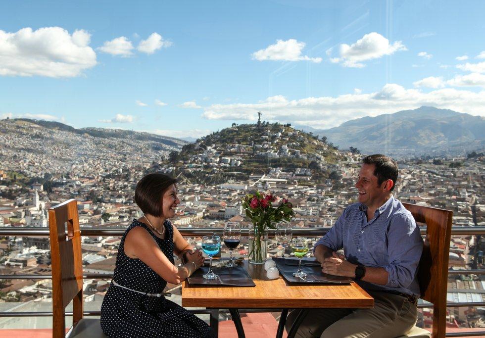 The mountainous cityscape of Quito © Ministerio de Turismo de Ecuador