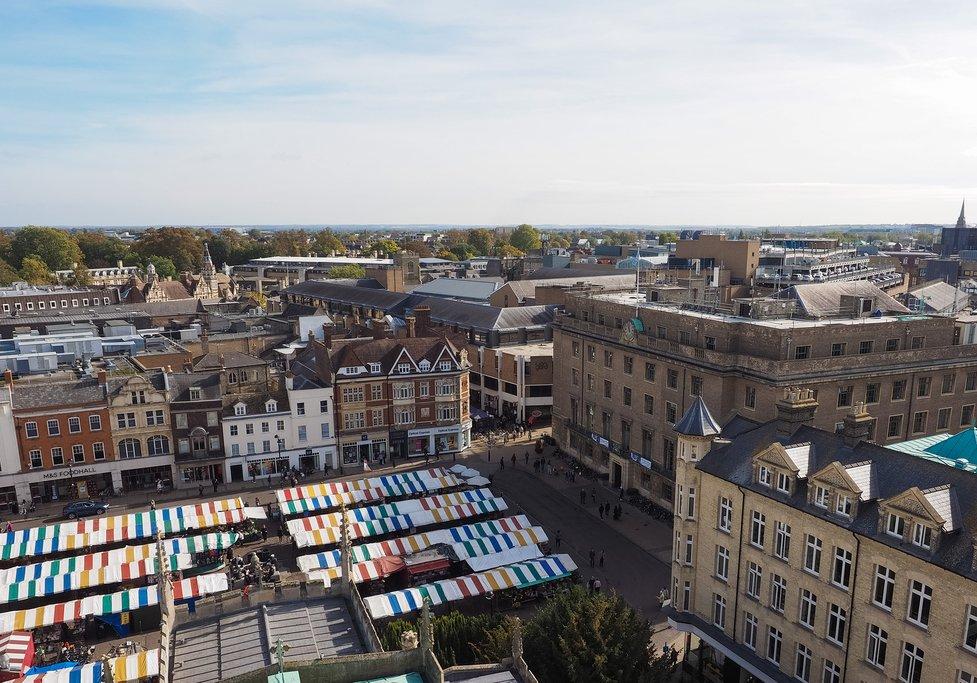 England - Cambridge - Market Square