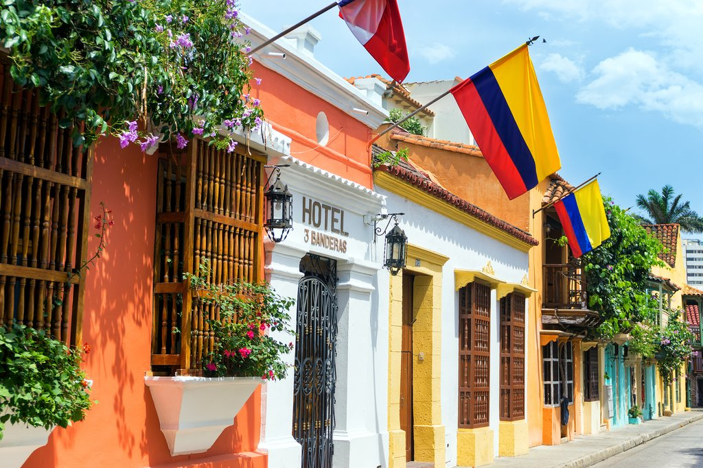 Colorful buildings of Cartagena