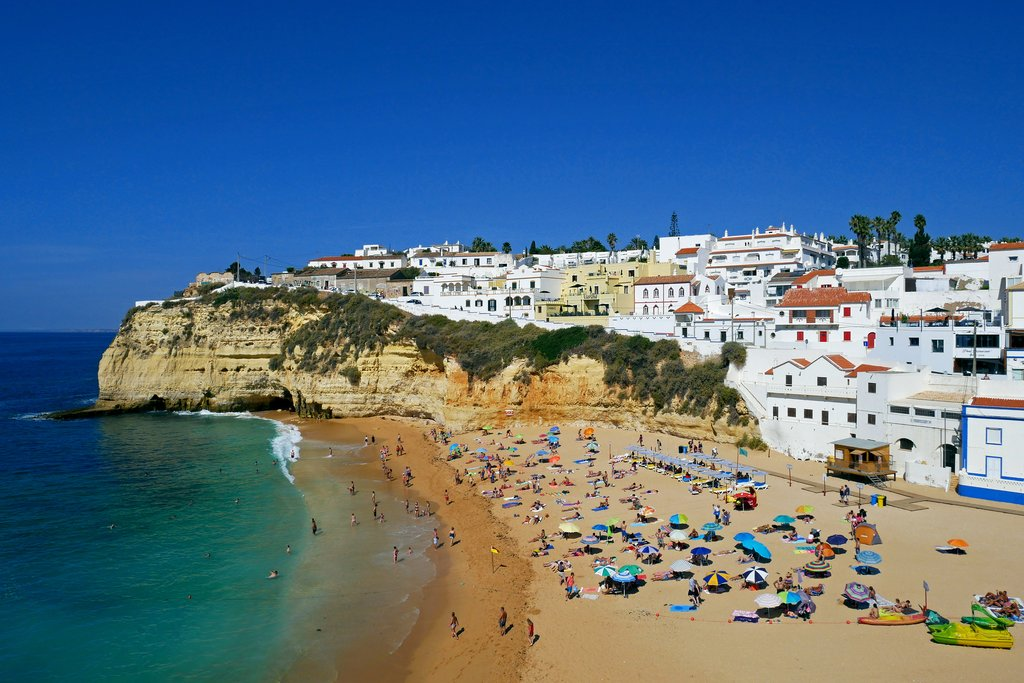 View of Carvoeiro beach