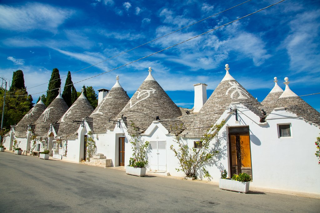 Traditional trulli homes in Alberobello