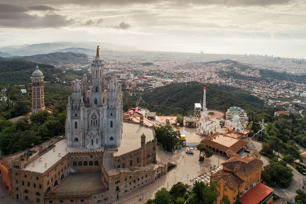 Tibidabo Temple of the Sacred Heart of Jesus and theme park
