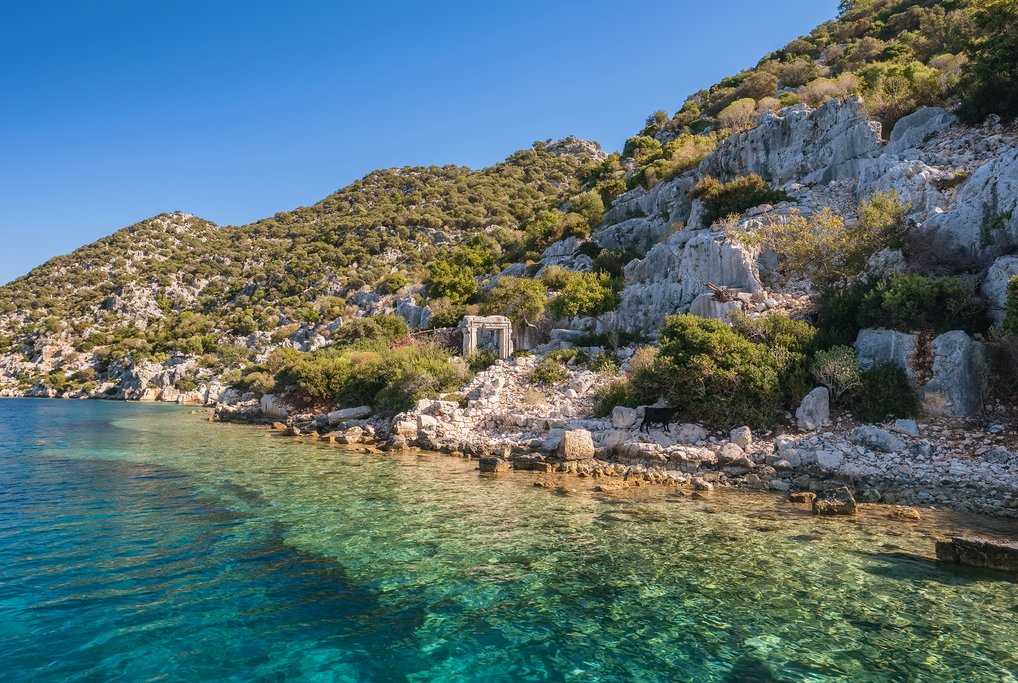 The sunken ruins of Simena