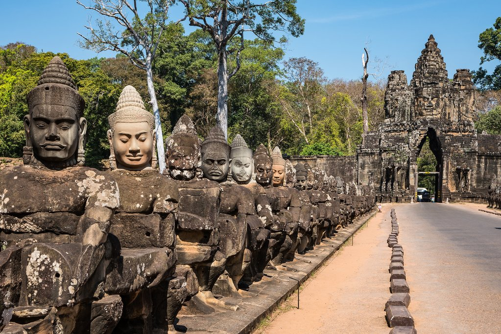 Asuras at the South Gate of Angkor Thom
