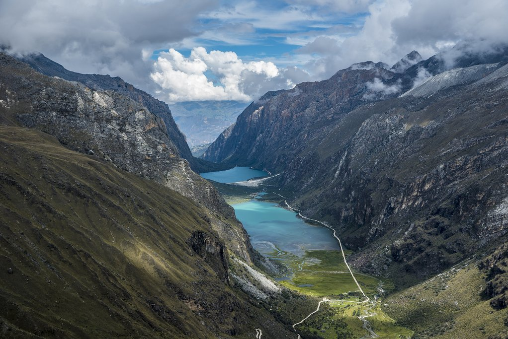 The popular and spectacular Santa Cruz trek near Huaraz