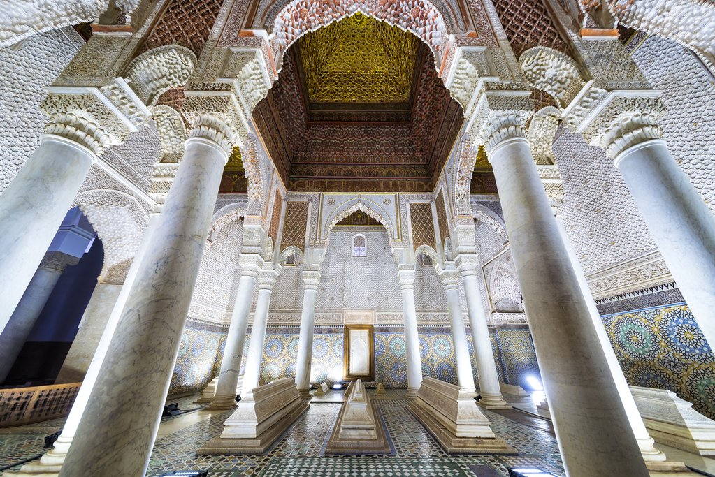 Inside Saadian Tombs, Marrakech, Morocco