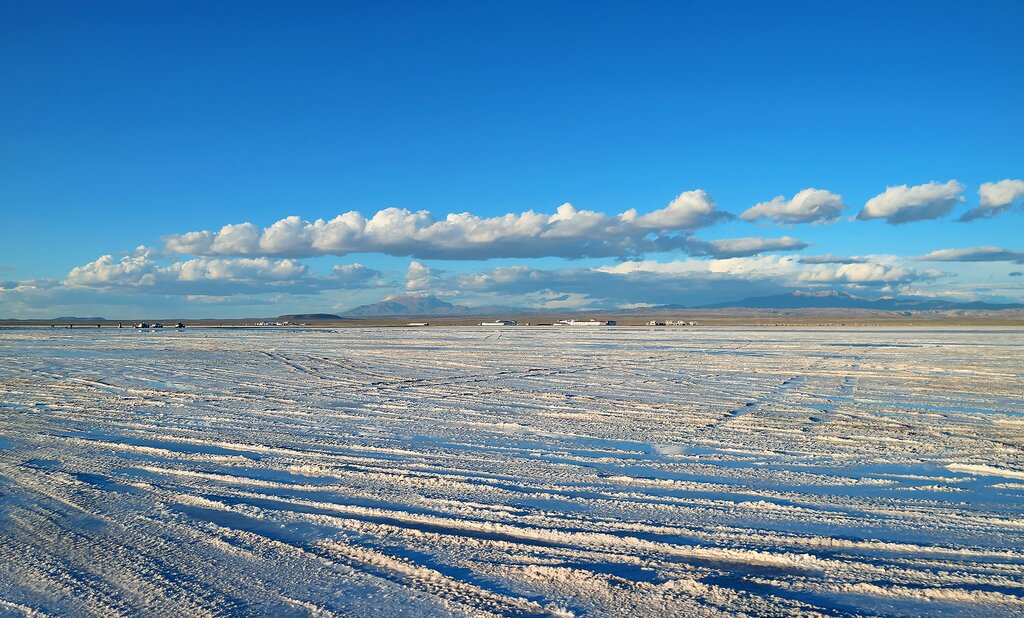 The salt flats of Uyuni