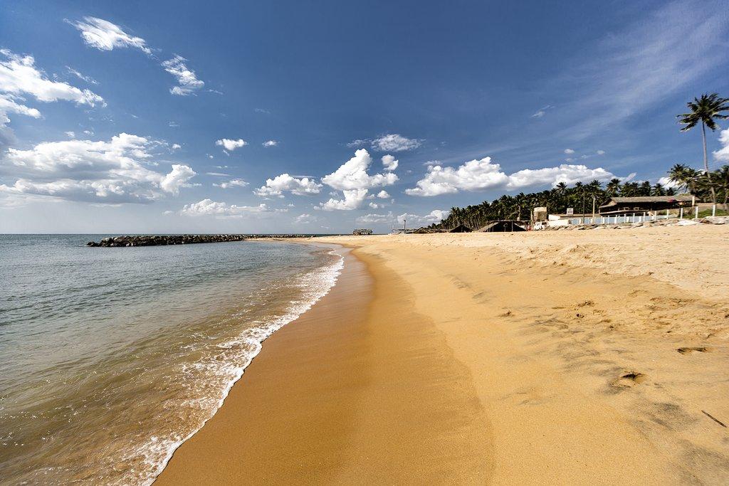 Negombo's long, sandy beaches.