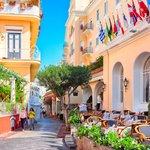 Colorful street cafes, Capri