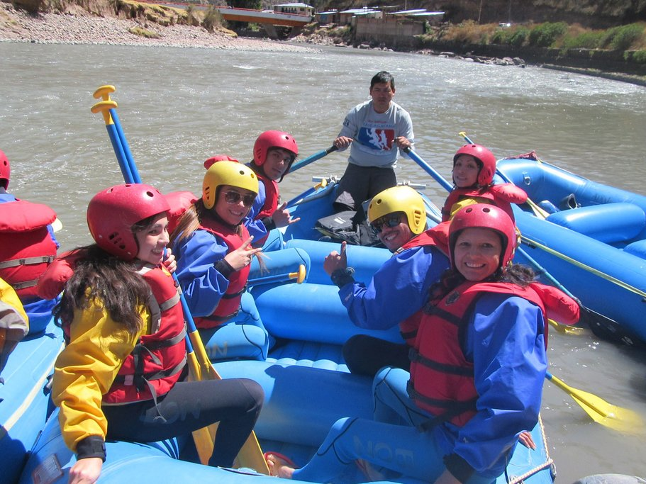 A group have fun rafting one of Andean Peru's many magnificent stretches of white water