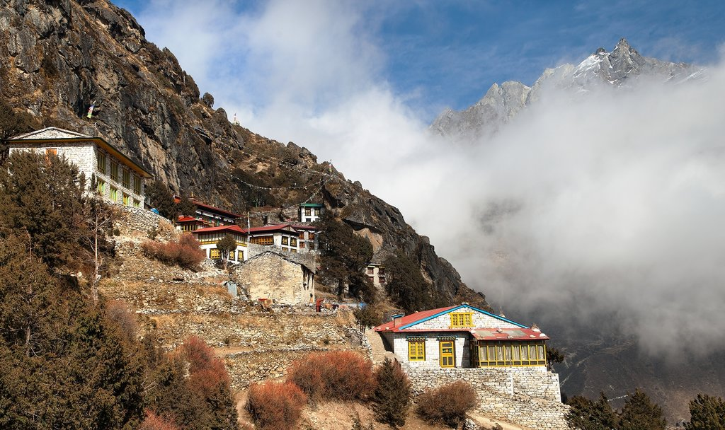 Thame Gompa in the mist
