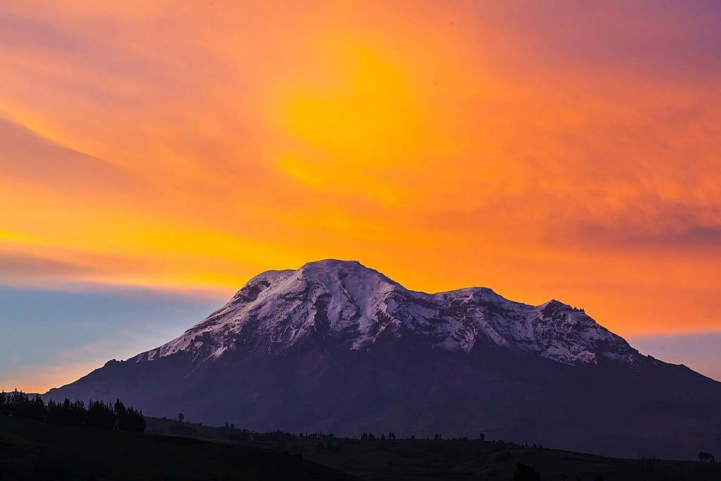 Sunset at the Chimborazo Volcano
