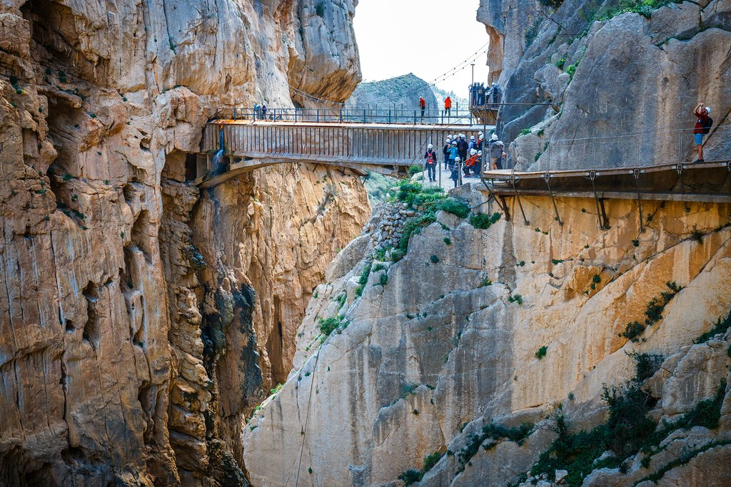 A bridge on the Caminito del Rey