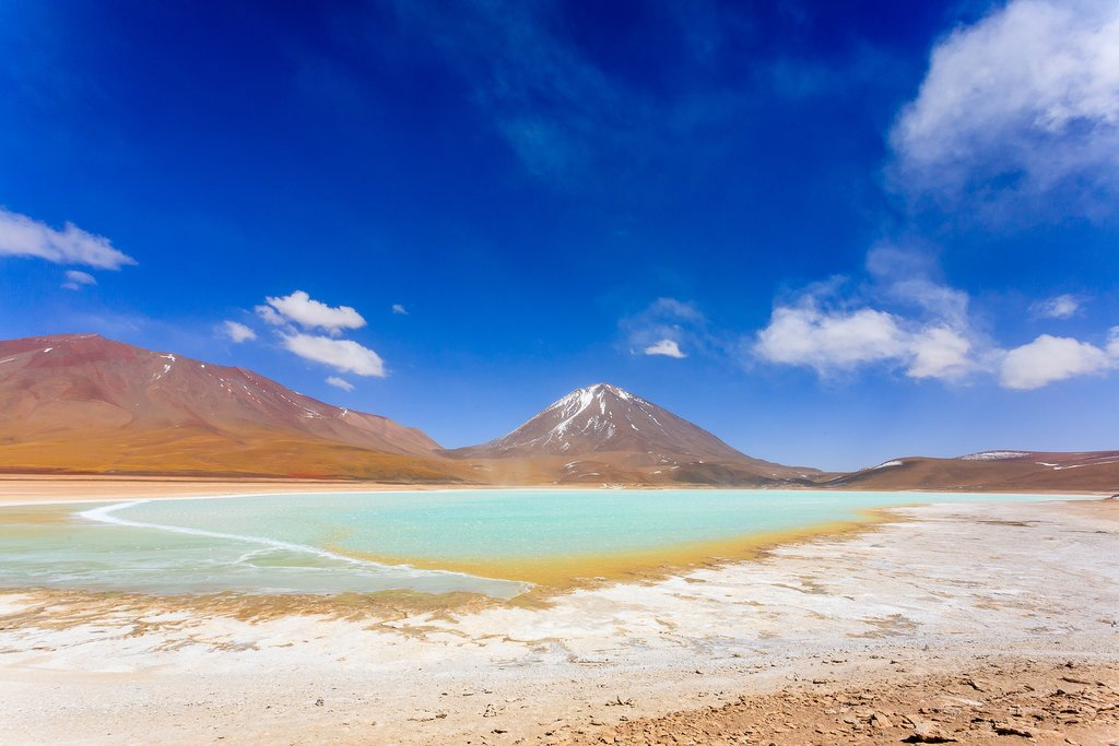 Green Lagoon and Licancabur Volcano