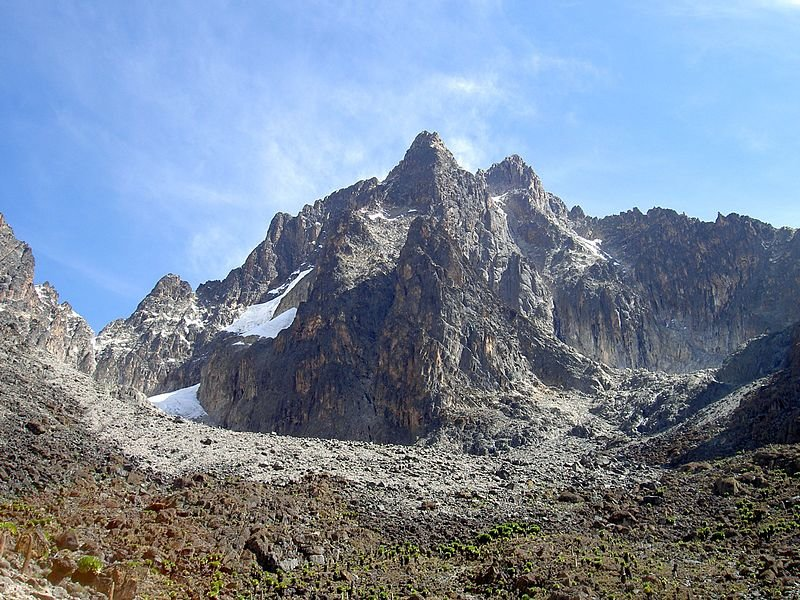 A view of Mount Kenya