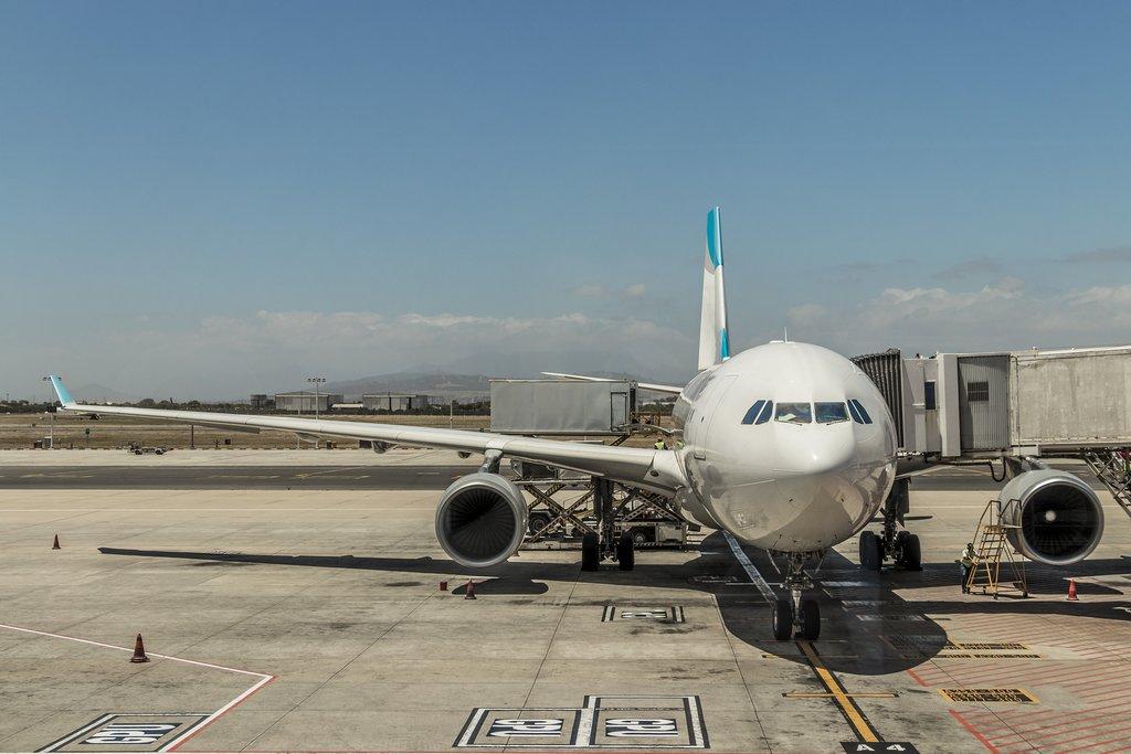 Plane awaiting departure