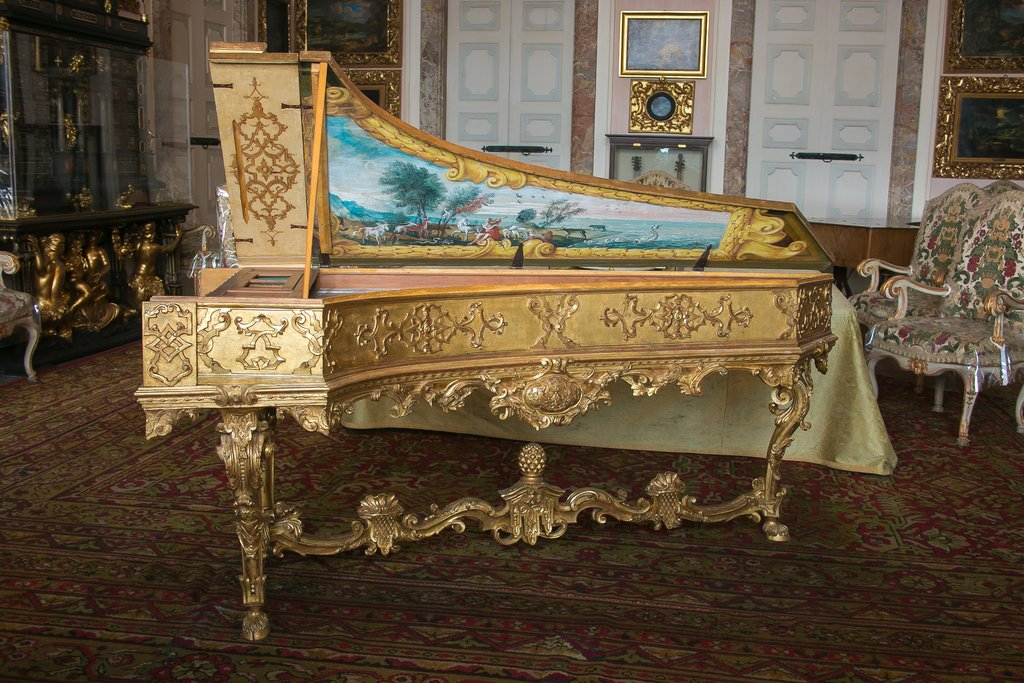 Harpsichord in the Borromean Palace