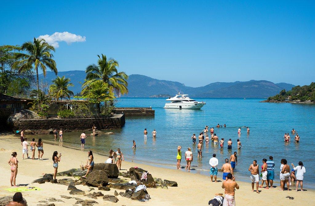 Tropical island surroundings in Angra dos Reis