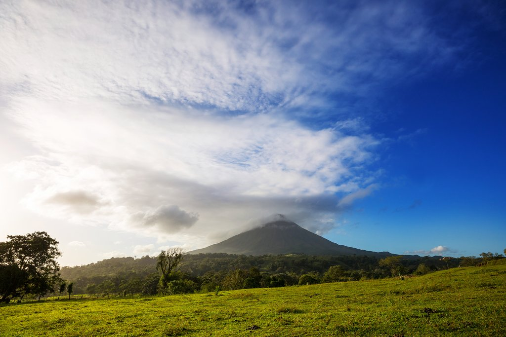Arenal Volcano stands at an impressive 1,633-meters (5,358-feet) high