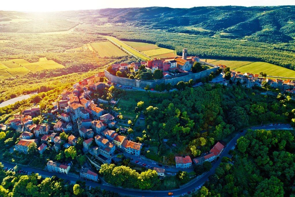 Croatia - Motovun - Istria's charming hilltop town of Motovun