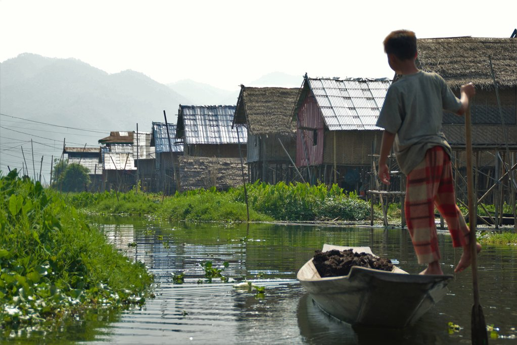 A floating village on Inle Lake