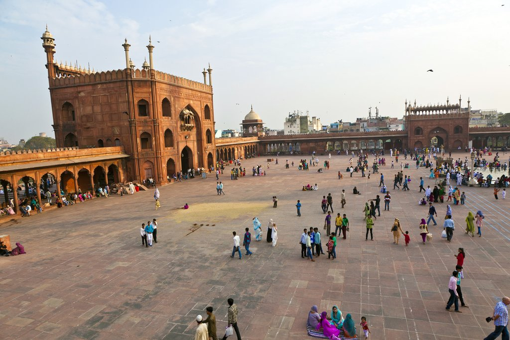Jama Masjid Mosque is the largest mosque in India