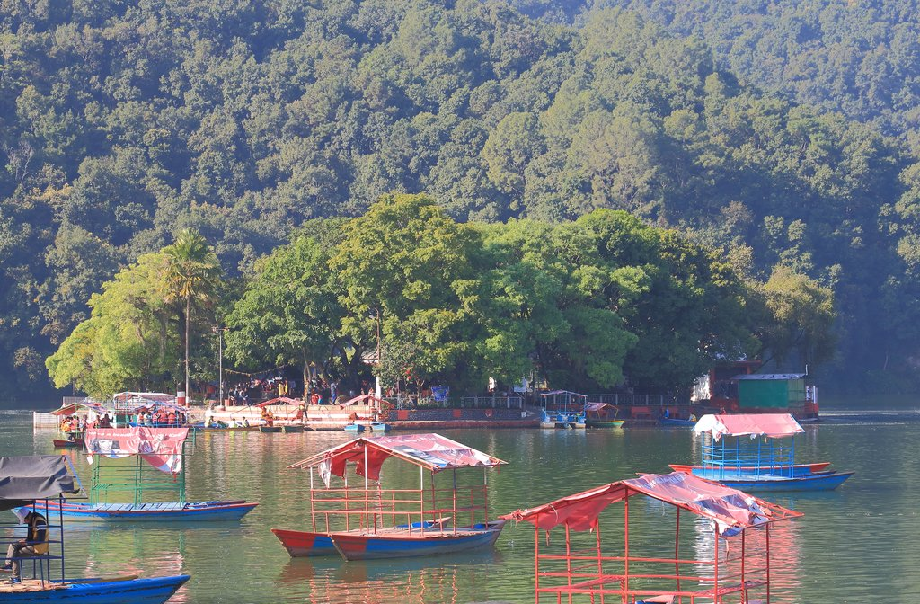 Visit the Tal Barahi temple by boat